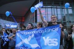 Schots Onafhankelijkheidsreferendum Perth 2014 Stock Foto