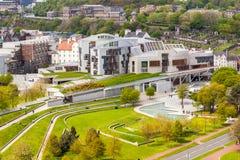 Schots Parlementsgebouw, Edinburgh, Schotland stock foto