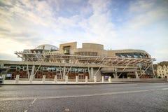 Schots Parlementsgebouw in Edinburgh van de binnenstad royalty-vrije stock afbeelding