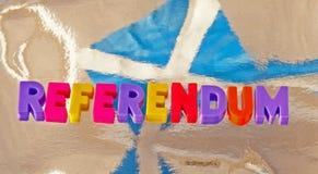 Schots referendum stock afbeeldingen
