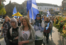 Schots Referendumprotest Royalty-vrije Stock Afbeeldingen