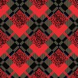 Schots rood geruit Schots wollen stof grunge naadloos patroon met luipaardvlekken eps 10 stock illustratie