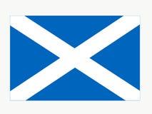 Schots vlagembleem van Schotland vector illustratie