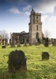Schotse begraafplaats met grafstenen Stock Foto