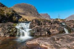 Schotse bergstroom stock foto's
