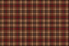 Schotse cel Naadloos vectorkooipatroon repeating Beige met bruine achtergrond royalty-vrije illustratie