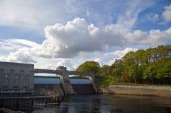 Schotse dam en hydrocentrum Stock Afbeelding