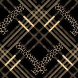 Schotse de luipaardvlekken van het geruit Schots wollen stof grunge naadloze patroon geruit Schots wollen stof met luipaardstijl  royalty-vrije illustratie