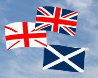 Schotse decentralisatievlag - Union Jack, saltire enz. Royalty-vrije Stock Fotografie
