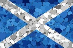 Schotse die vlag van hartenachtergrond wordt gemaakt Royalty-vrije Stock Fotografie