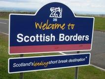 Schotse grens stock foto's