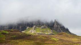 Schotse hooglanden met typisch Schots weer royalty-vrije stock fotografie