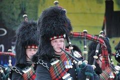 Schotse Pijpen bij de Militaire Tatoegering van Edinburgh stock afbeelding