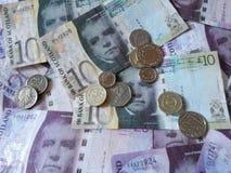 Schotse Pondnota's en muntstukken Royalty-vrije Stock Foto's