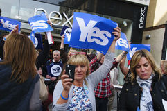 2014 Schotse Referendumcampagne Stock Afbeeldingen