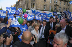 2014 Schotse Referendumcampagne Stock Foto's