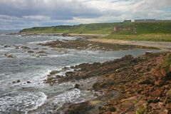Schotse rotsachtige kust Royalty-vrije Stock Foto