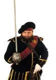 Schotse strijder met zwaard royalty-vrije stock afbeelding