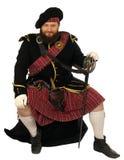Schotse strijder met zwaard Royalty-vrije Stock Fotografie