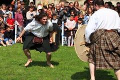 Schotse strijders Stock Foto's