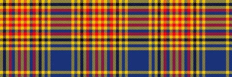 Schotse van het Geruit Schots wollen stof Naadloze patroon illustratie als achtergrond Stock Foto