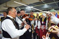 Schotse volksmusici Royalty-vrije Stock Afbeelding
