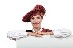 Schotse vrouw stock foto's