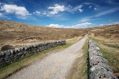 Schotse wandelingsweg Stock Foto's