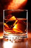 Schotse whisky op een lijst Royalty-vrije Stock Afbeeldingen