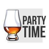 Schotse whisky, rum die, brandewijn glas besnuffelen royalty-vrije illustratie