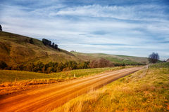 Schotterweg in Australien Lizenzfreie Stockbilder