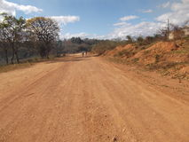 Schotterweg in Sete Lagoas Lizenzfreies Stockfoto