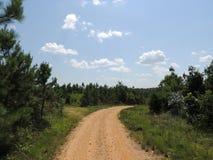 Schotterweg unter blauem Himmel Lizenzfreie Stockfotografie