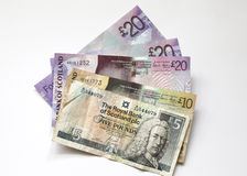 Schottische Banknoten Stockbild