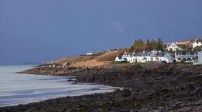 Schottische entferntkate auf der Küste Lizenzfreie Stockfotos