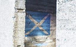 Schottische Flagge Stockbild