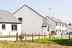 Schottische Häuser Lizenzfreies Stockbild