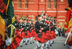 Schottische Parade Lizenzfreies Stockfoto