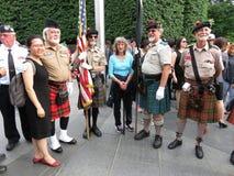 Schottische Soldaten am Koreakrieg-Denkmal Stockfotos