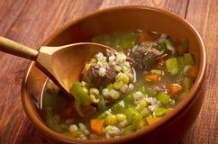 Schottische Suppen-Suppe Lizenzfreie Stockfotos