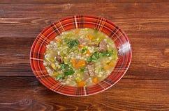 Schottische Suppen-Suppe Lizenzfreies Stockfoto