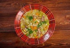 Schottische Suppen-Suppe Stockfotografie