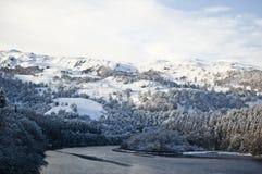 Schottische Winterlandschaft Stockbilder