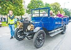 Schottischer Bus der Weinlese ab 1920 Stockfoto
