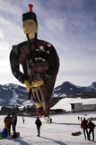 Schottischer Dudelsackpfeiferballon Lizenzfreie Stockfotos
