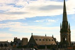Schottischer Himmel Stockfotografie