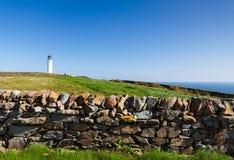 Schottischer Leuchtturm Stockfotos