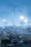 Schottischer Nebel im Land die Türkei Stockbilder