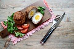 Schottisches Ei Stockfoto