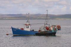 Schottisches Fischerboot stockfoto